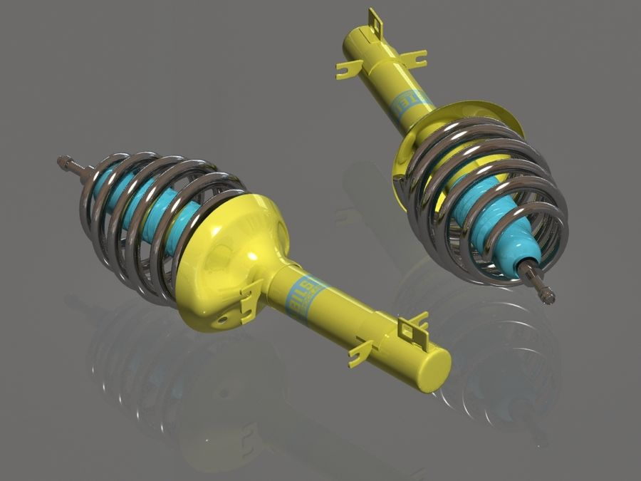 Bilstein car suspension royalty-free 3d model - Preview no. 2