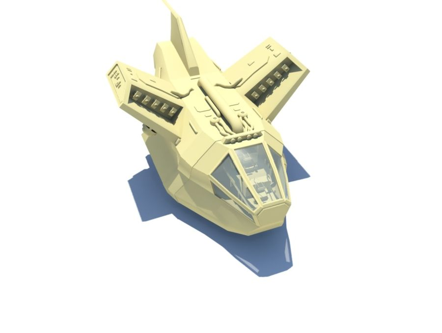 DropShip & Jeep royalty-free 3d model - Preview no. 1