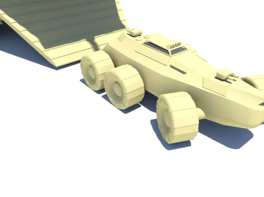 DropShip & Jeep royalty-free 3d model - Preview no. 4