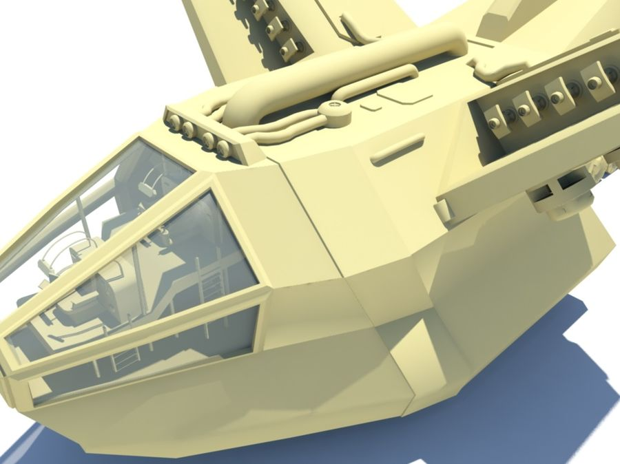 DropShip & Jeep royalty-free 3d model - Preview no. 2
