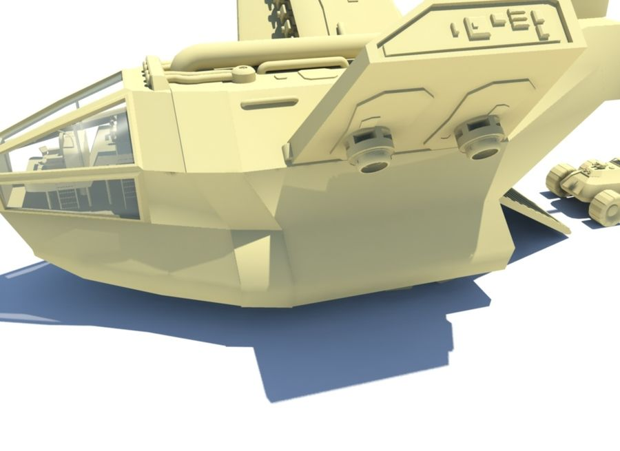 DropShip & Jeep royalty-free 3d model - Preview no. 6