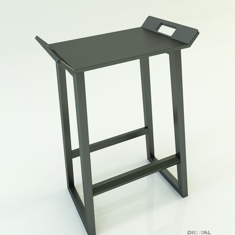 Stool Chair 11 royalty-free 3d model - Preview no. 5