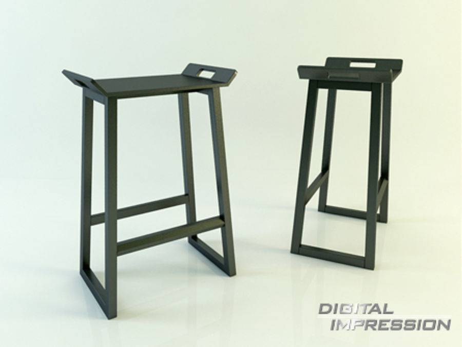 Stool Chair 11 royalty-free 3d model - Preview no. 1