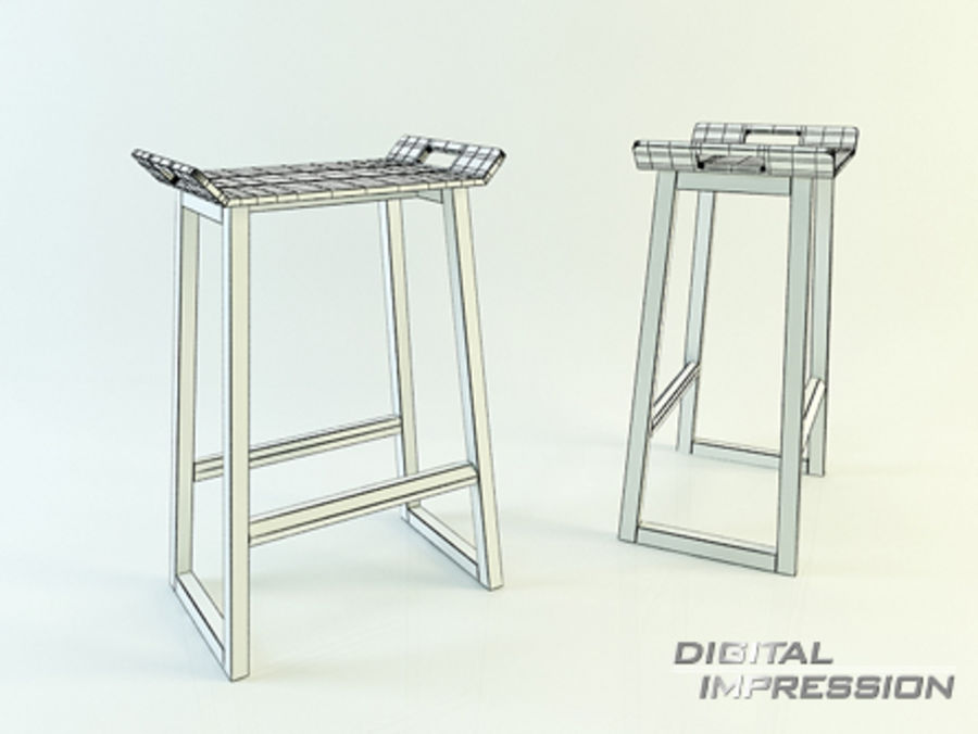 Stool Chair 11 royalty-free 3d model - Preview no. 2