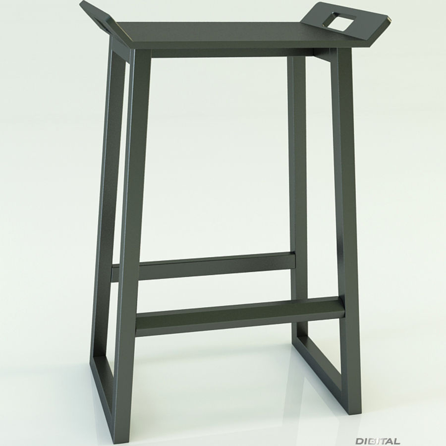 Stool Chair 11 royalty-free 3d model - Preview no. 3