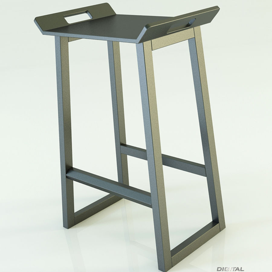 Stool Chair 11 royalty-free 3d model - Preview no. 4