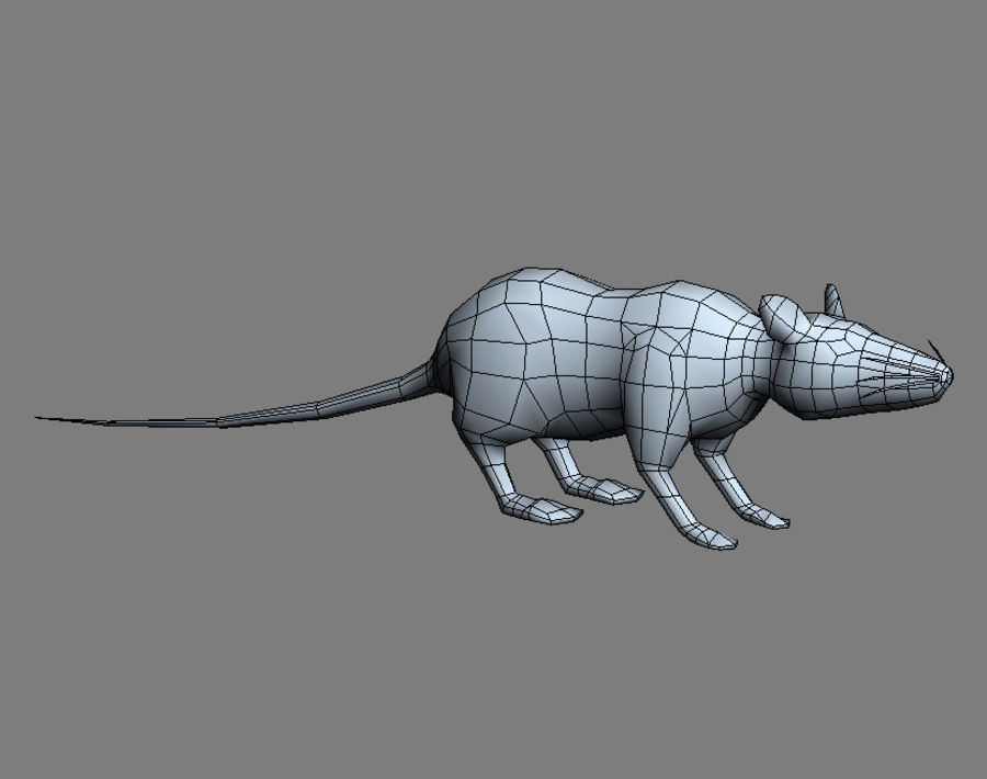 3D Rat  - game model - lowpoly royalty-free 3d model - Preview no. 5