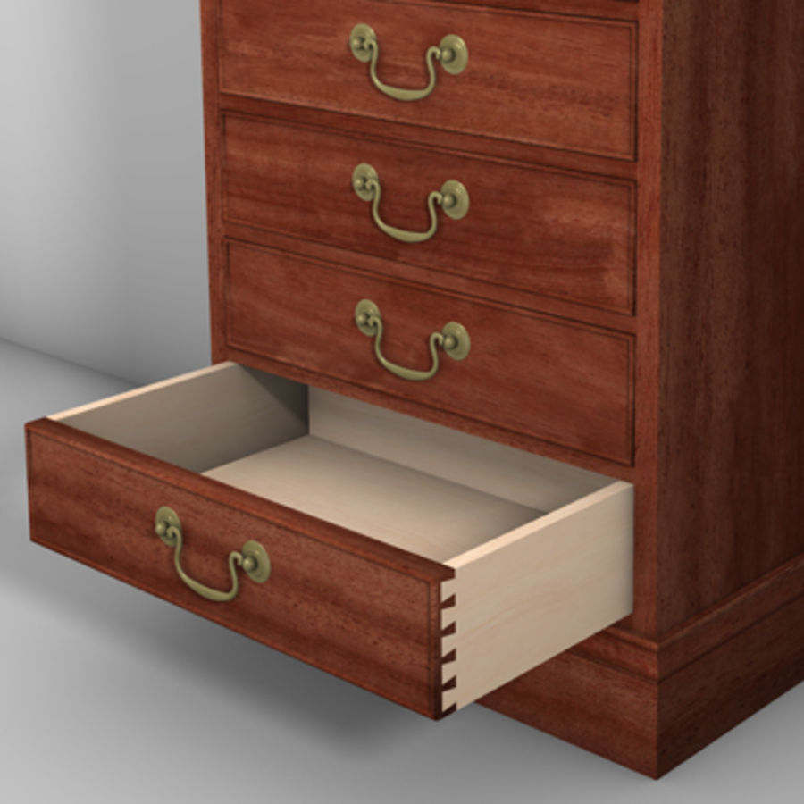 Drawer Cabinet 3d Model royalty-free 3d model - Preview no. 4