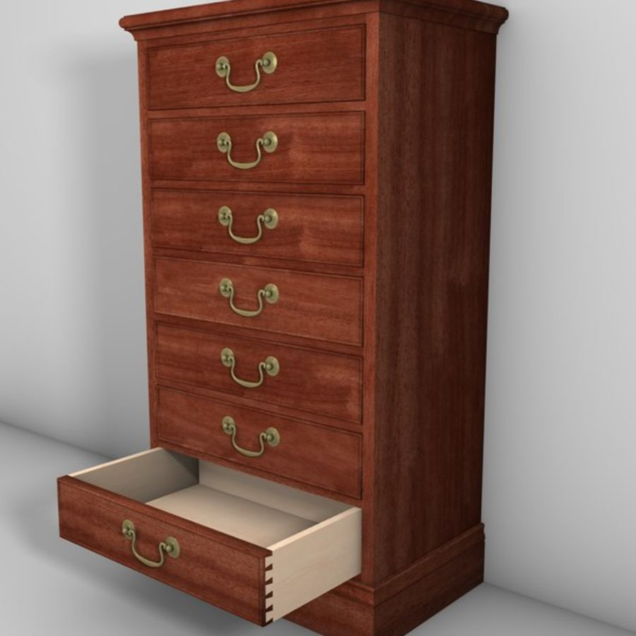Drawer Cabinet 3d Model royalty-free 3d model - Preview no. 1