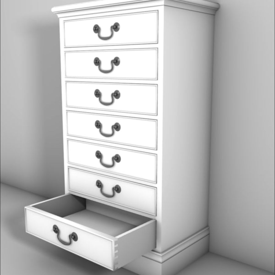 Drawer Cabinet 3d Model royalty-free 3d model - Preview no. 2