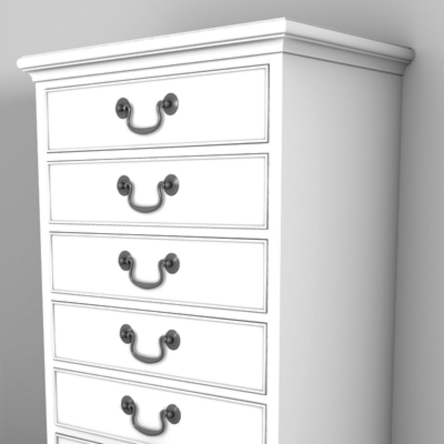 Drawer Cabinet 3d Model royalty-free 3d model - Preview no. 3
