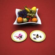 Conjunto de sobremesa de frutas 3d model