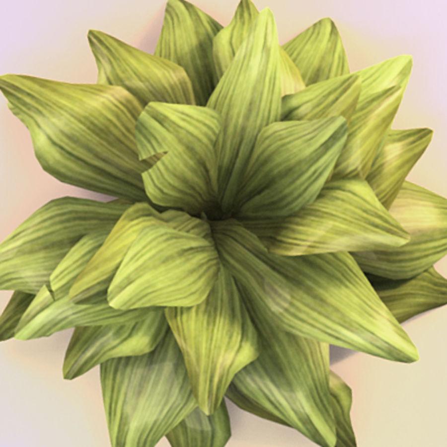 绿叶绿色的植物 royalty-free 3d model - Preview no. 3
