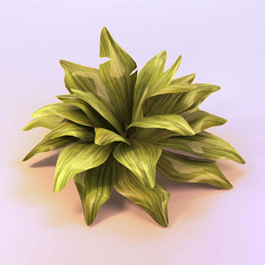绿叶绿色的植物 royalty-free 3d model - Preview no. 2