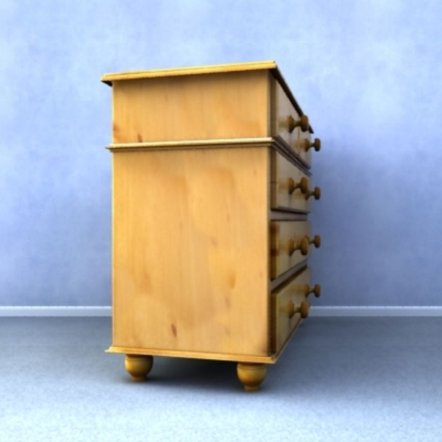 Chest of drawers royalty-free 3d model - Preview no. 5