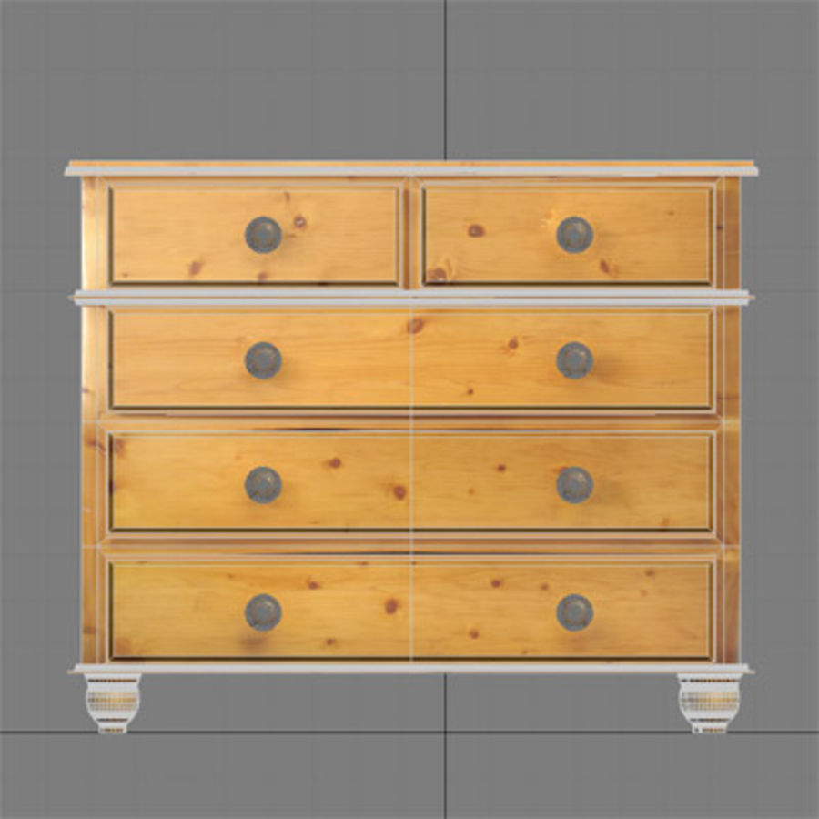 Chest of drawers royalty-free 3d model - Preview no. 8