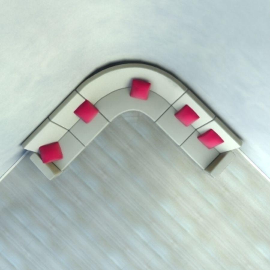 Sofa narożna royalty-free 3d model - Preview no. 2