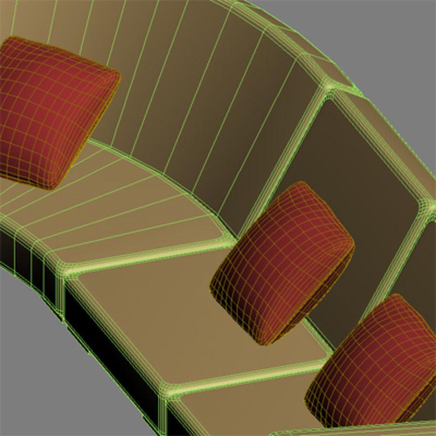 Sofa narożna royalty-free 3d model - Preview no. 8
