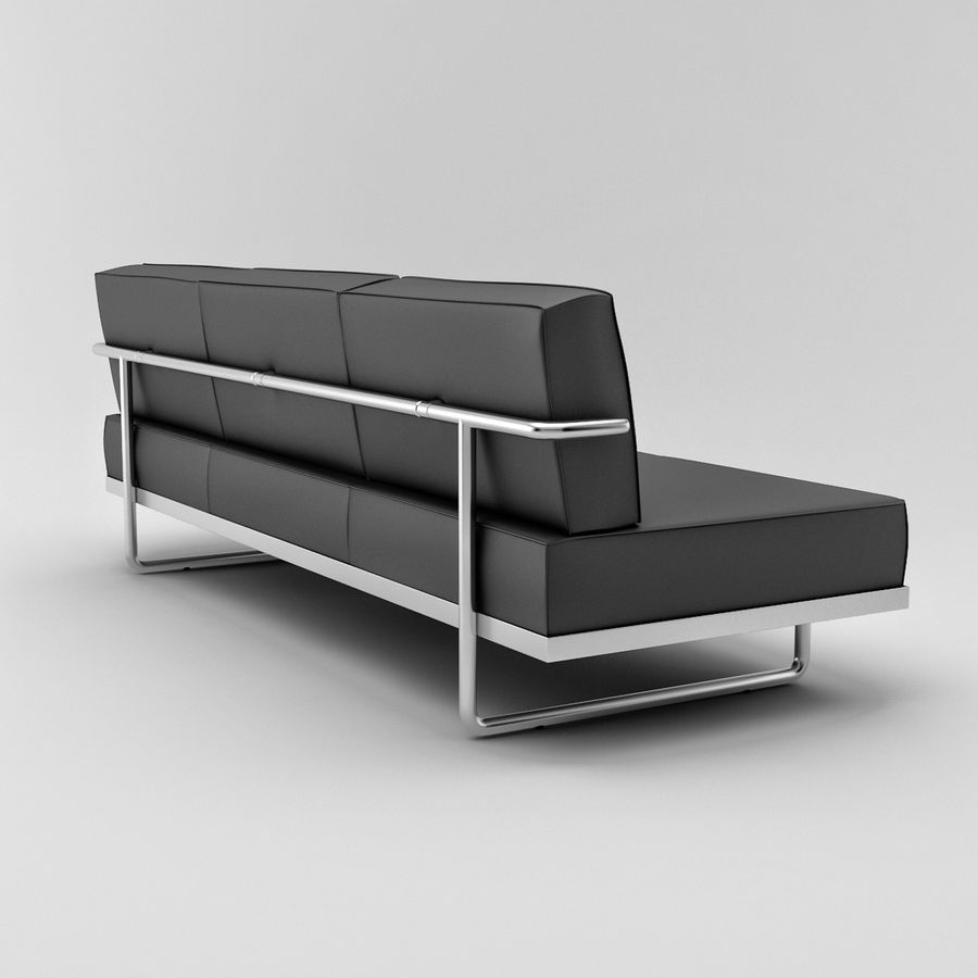 Le Corbusier LC5 Couch Royalty Free 3d Model   Preview No. 4