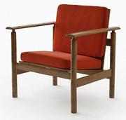armchair retro 3d model