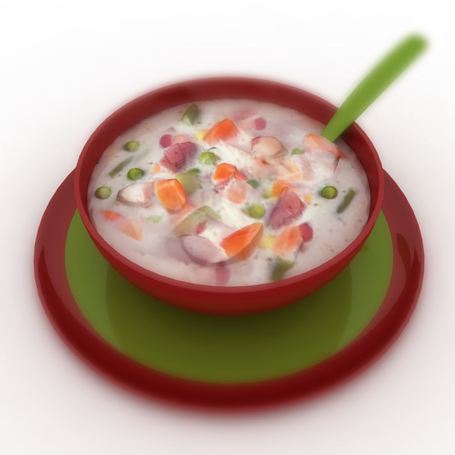 Food - Soup A royalty-free 3d model - Preview no. 1