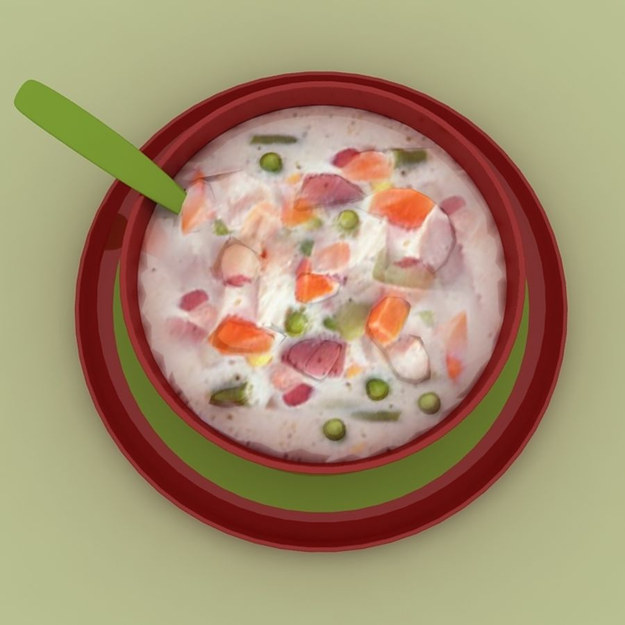 Food - Soup A royalty-free 3d model - Preview no. 5