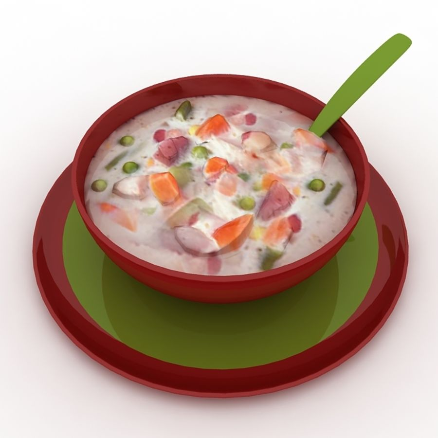 Food - Soup A royalty-free 3d model - Preview no. 4