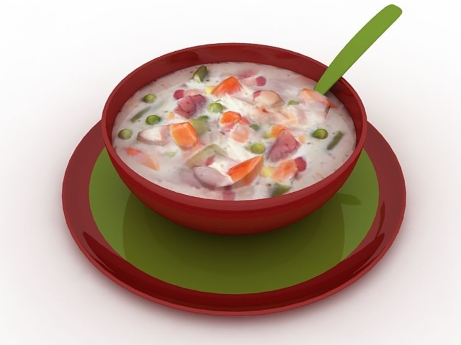 Food - Soup A royalty-free 3d model - Preview no. 2