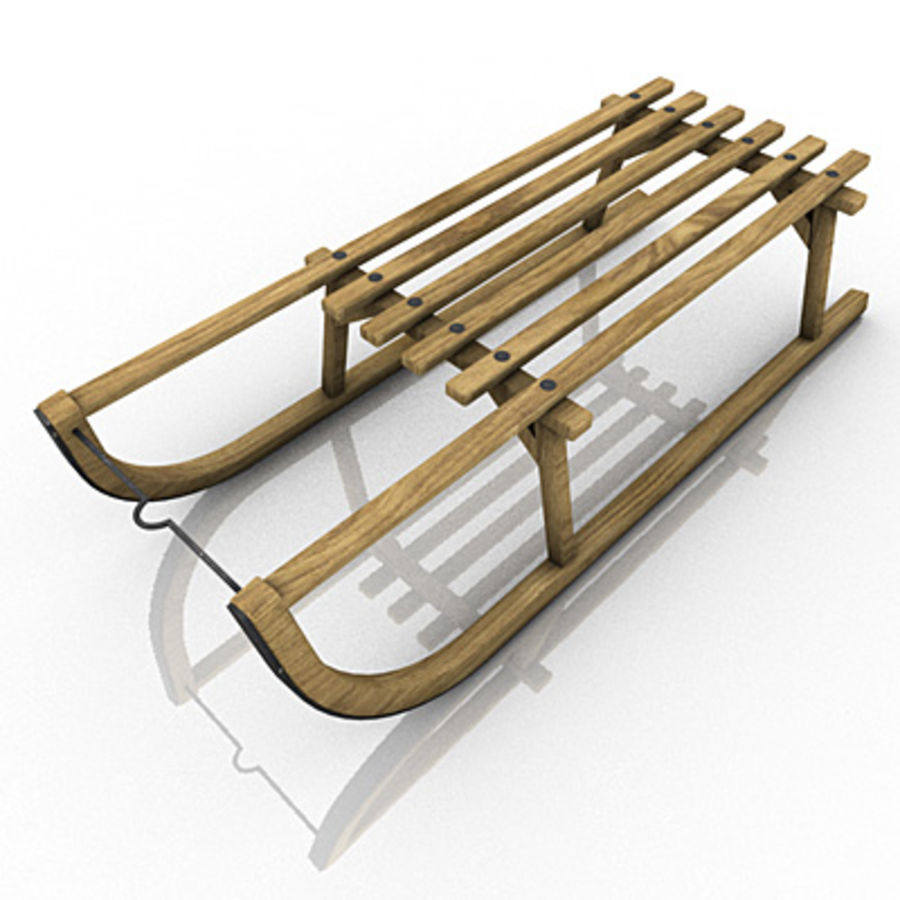 SNOW SLED royalty-free 3d model - Preview no. 1