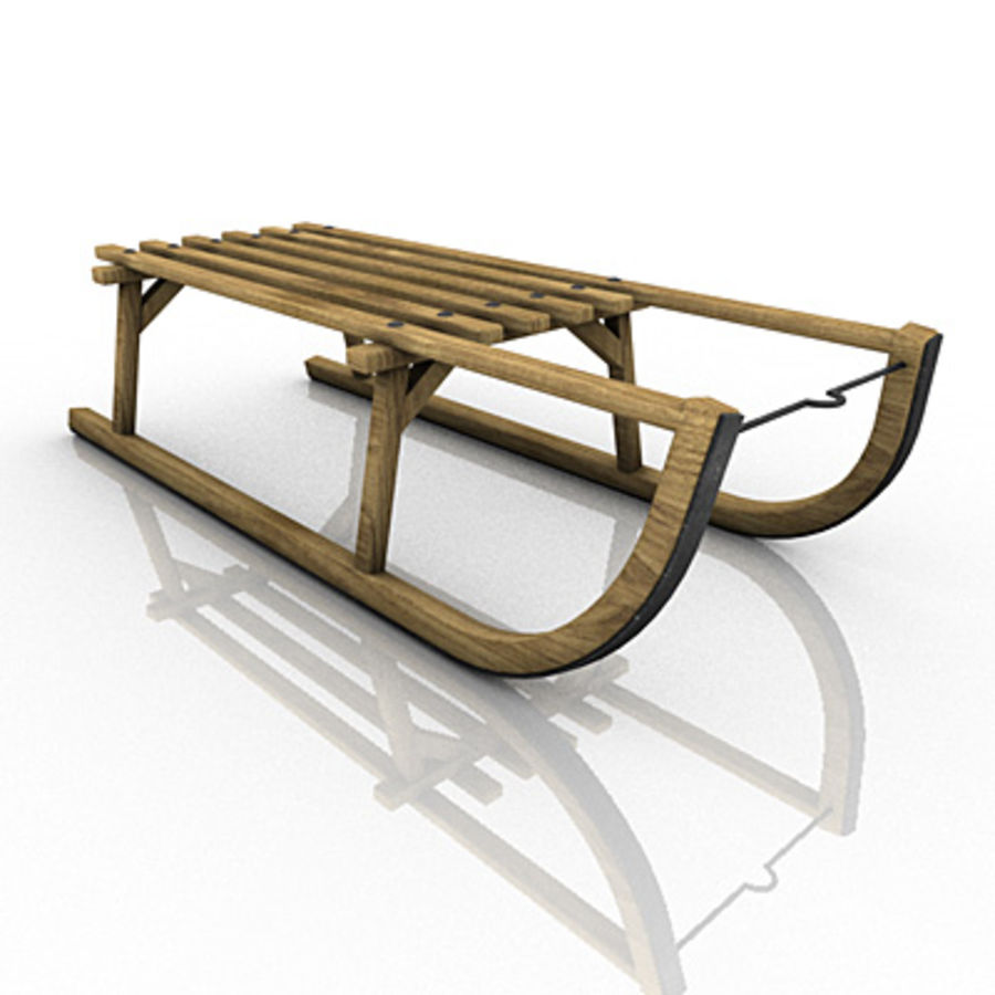 SNOW SLED royalty-free 3d model - Preview no. 3