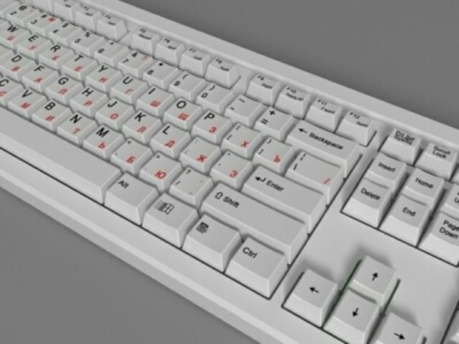 Keyboard 104 keys royalty-free 3d model - Preview no. 3