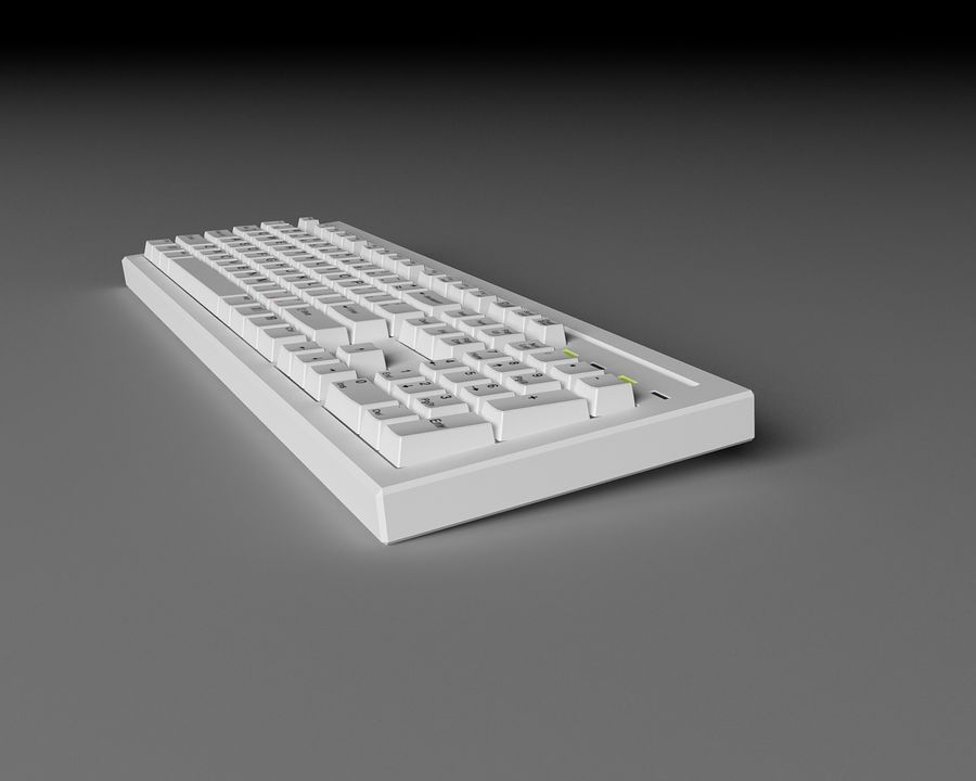 Keyboard 104 keys royalty-free 3d model - Preview no. 5