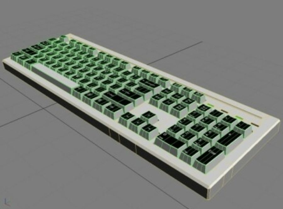 Keyboard 104 keys royalty-free 3d model - Preview no. 4