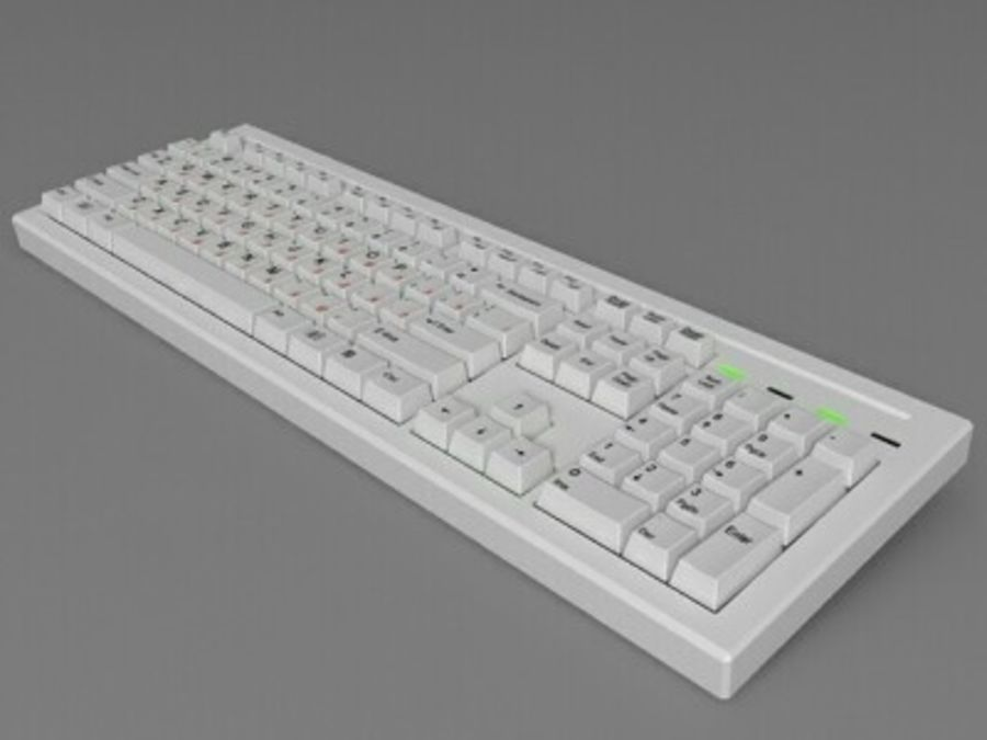 Keyboard 104 keys royalty-free 3d model - Preview no. 2