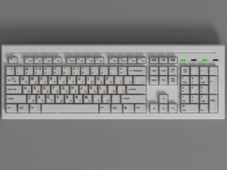 Keyboard 104 keys royalty-free 3d model - Preview no. 1