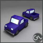 Low Poly Pickup 3d model