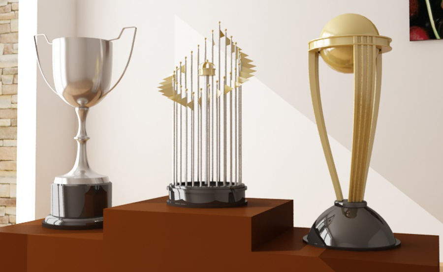 Trophies royalty-free 3d model - Preview no. 1