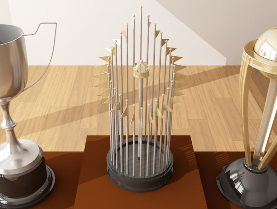 Trophies royalty-free 3d model - Preview no. 2
