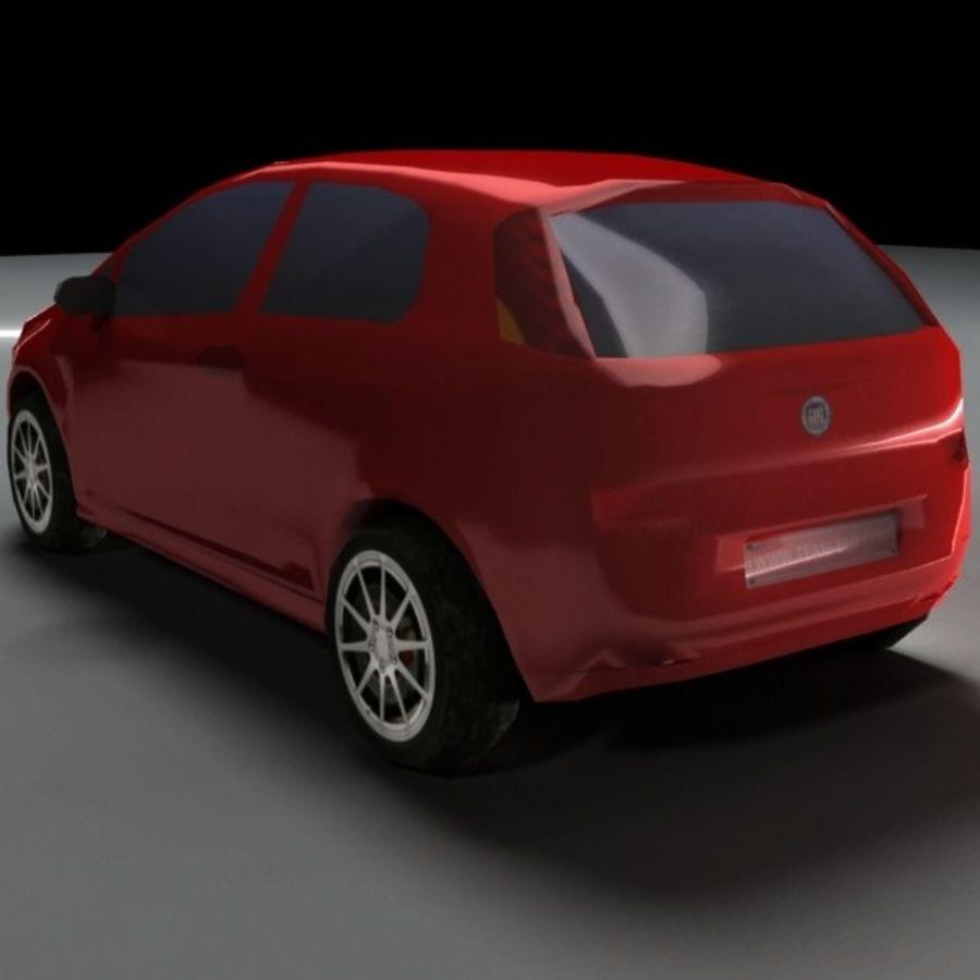 FIAT Grande Punto royalty-free 3d model - Preview no. 2