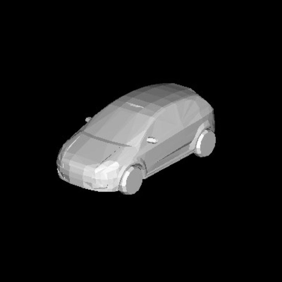FIAT Grande Punto royalty-free 3d model - Preview no. 7