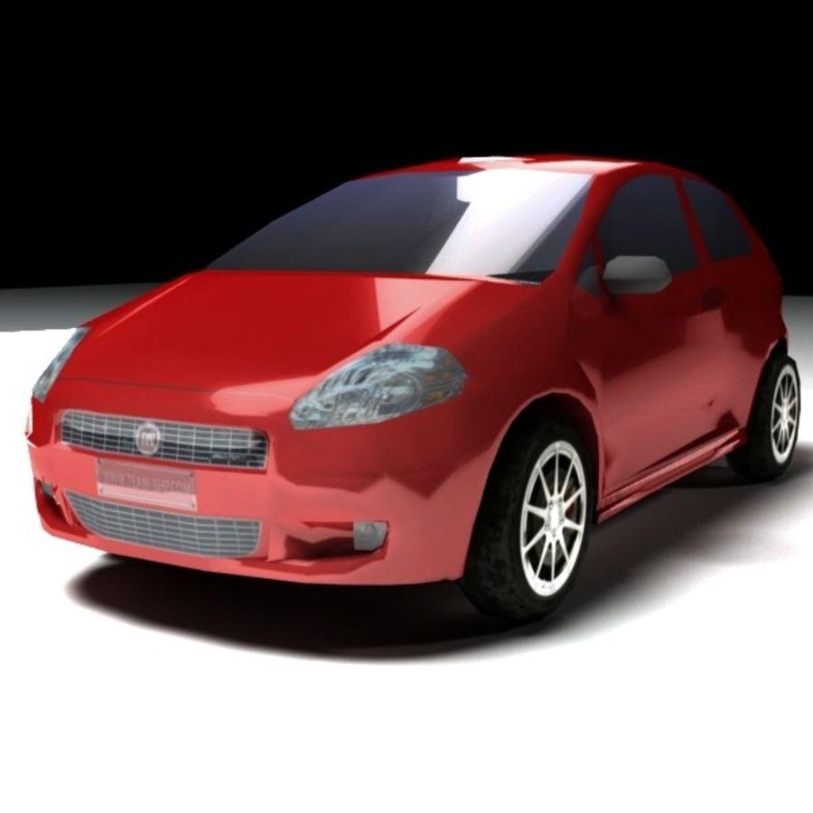 FIAT Grande Punto royalty-free 3d model - Preview no. 1