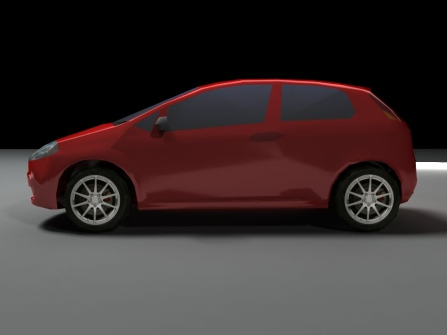 FIAT Grande Punto royalty-free 3d model - Preview no. 3