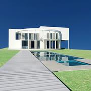 villa branca 3d model