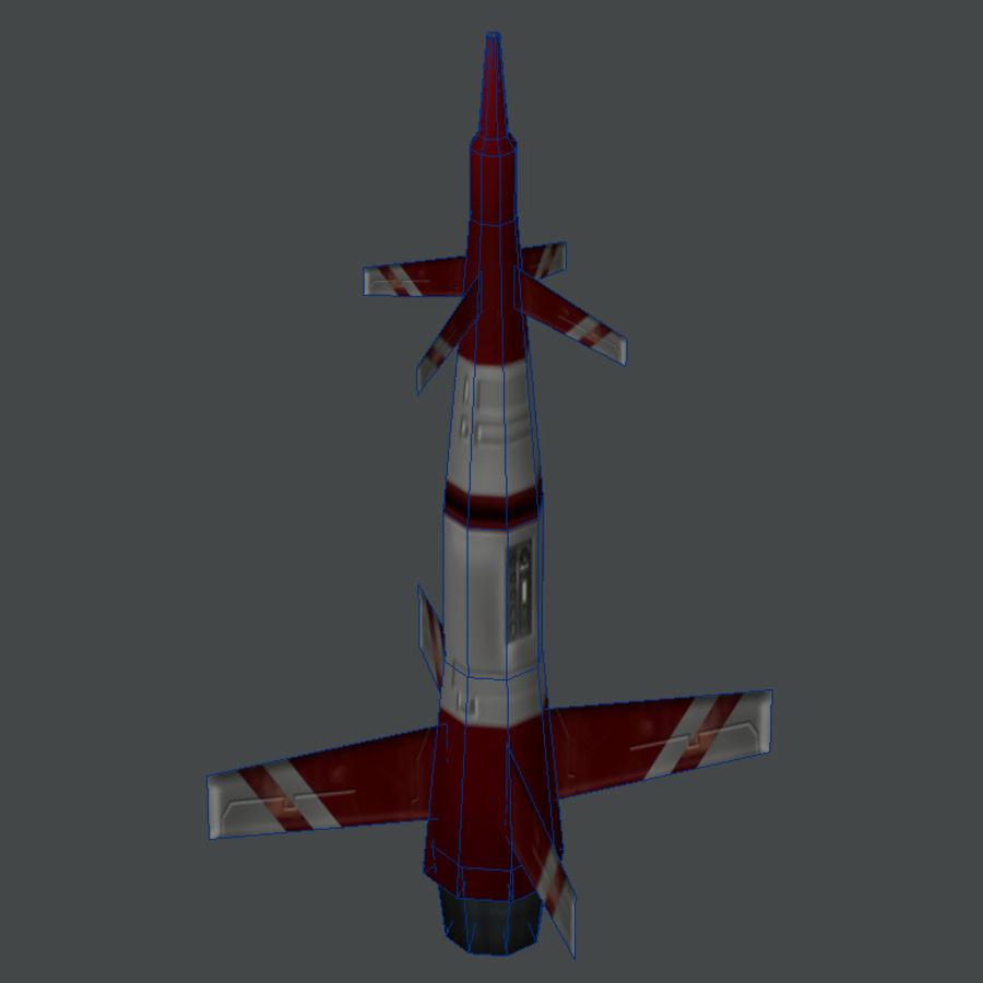 导弹01低多边形游戏模型 royalty-free 3d model - Preview no. 4