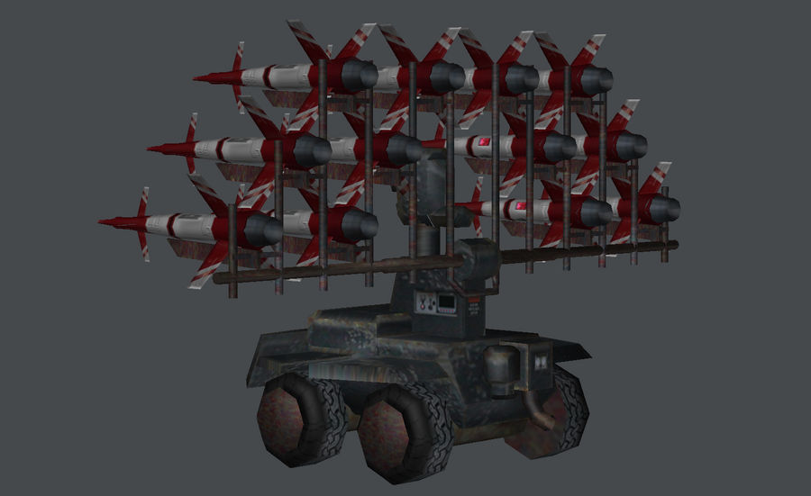 Mobile Missile Launcher royalty-free 3d model - Preview no. 6