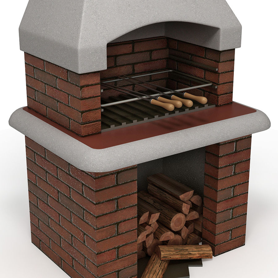 Barbecue royalty-free 3d model - Preview no. 3
