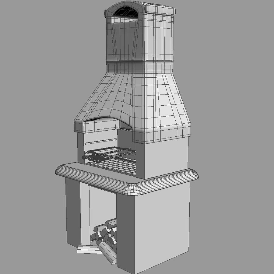 Barbecue royalty-free 3d model - Preview no. 4