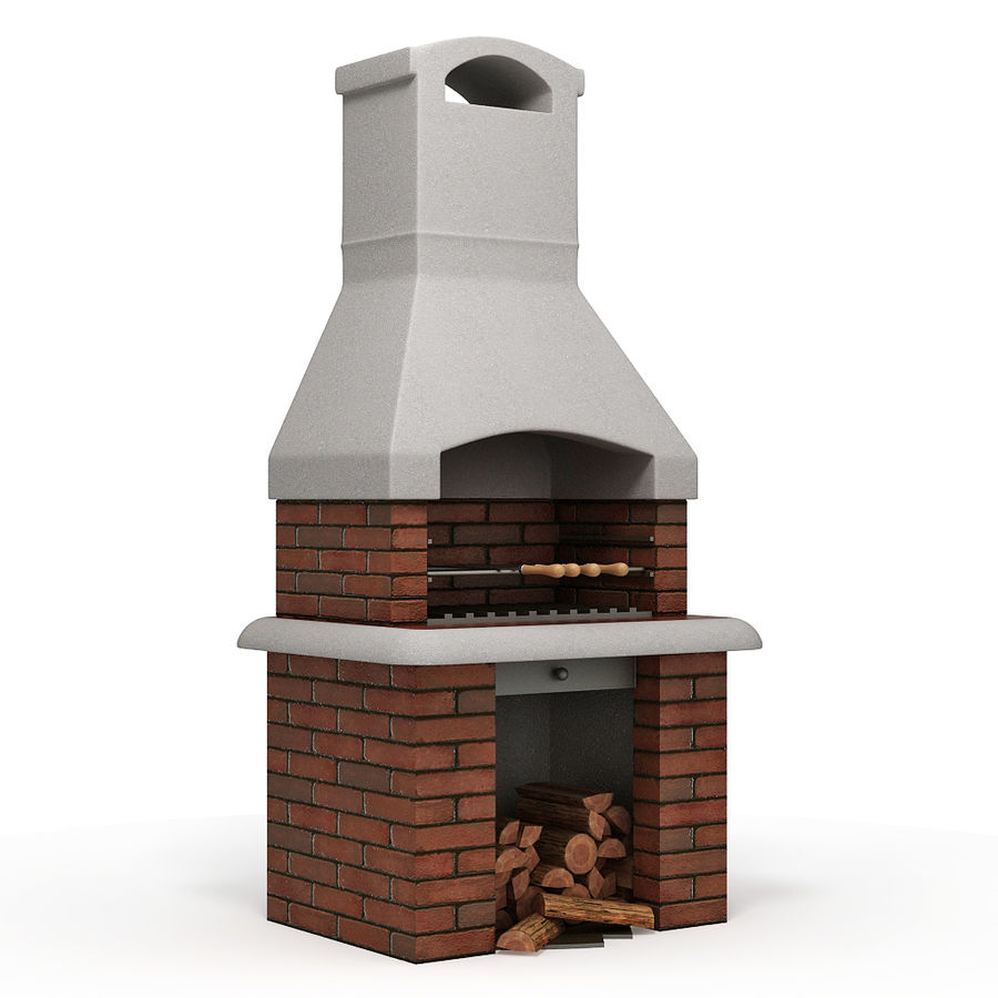 Barbecue royalty-free 3d model - Preview no. 5