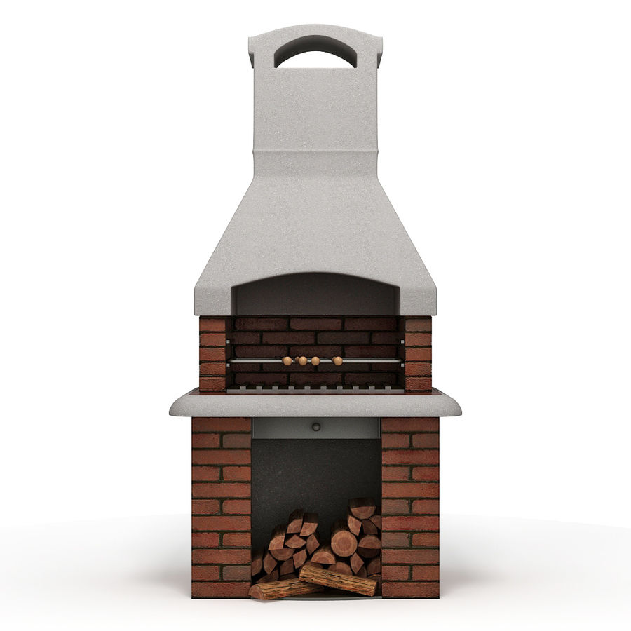 Barbecue royalty-free 3d model - Preview no. 2