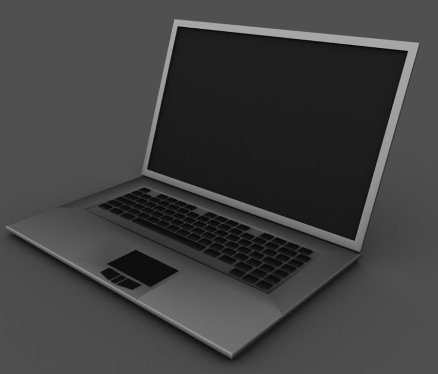notebook01 3ds dxf c4d obj royalty-free 3d model - Preview no. 1